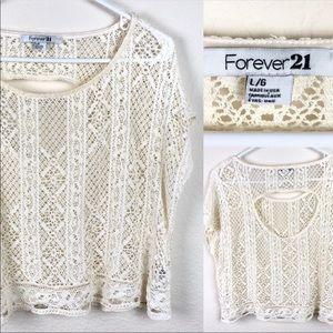 Forever 21 lace short sleeved blouse